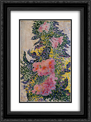 Flowers 18x24 Black or Gold Ornate Framed and Double Matted Art Print by Henri Edmond Cross