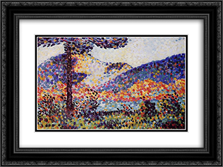 Landscape 24x18 Black or Gold Ornate Framed and Double Matted Art Print by Henri Edmond Cross