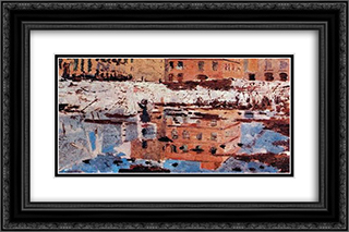 Miragem, Napoles 24x16 Black or Gold Ornate Framed and Double Matted Art Print by Henrique Pousao