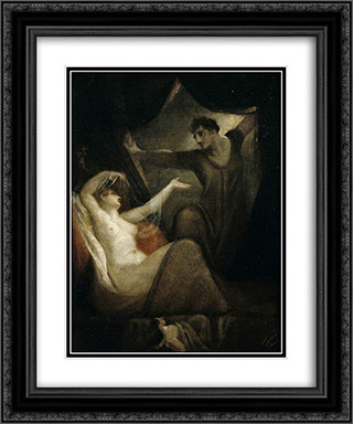 A Scene from 'The Wife of Bath's Tale' 20x24 Black or Gold Ornate Framed and Double Matted Art Print by Henry Fuseli