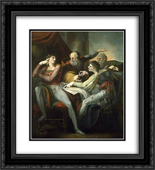 Dispute between Hotspur, Glendower, Mortimer and Worcester 20x22 Black or Gold Ornate Framed and Double Matted Art Print by Henry Fuseli
