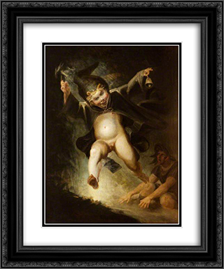 Friar Puck 20x24 Black or Gold Ornate Framed and Double Matted Art Print by Henry Fuseli