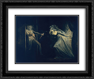 Lady Macbeth Seizing the Daggers 24x20 Black or Gold Ornate Framed and Double Matted Art Print by Henry Fuseli
