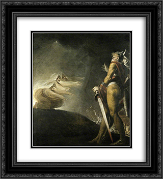 Macbeth, Banquo and the Witches 20x22 Black or Gold Ornate Framed and Double Matted Art Print by Henry Fuseli
