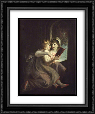 Milton When a Boy Instructed by His Mother 20x24 Black or Gold Ornate Framed and Double Matted Art Print by Henry Fuseli