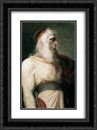 Prospero 18x24 Black or Gold Ornate Framed and Double Matted Art Print by Henry Fuseli