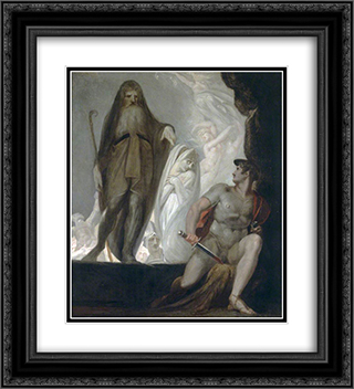 Teiresias Foretells the Future to Odysseus 20x22 Black or Gold Ornate Framed and Double Matted Art Print by Henry Fuseli