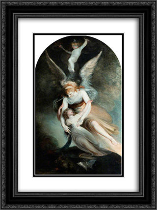 The Apothesis of Penelope Boothby 18x24 Black or Gold Ornate Framed and Double Matted Art Print by Henry Fuseli