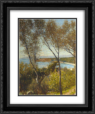 A Ligurian Bay 20x24 Black or Gold Ornate Framed and Double Matted Art Print by Henry Herbert La Thangue