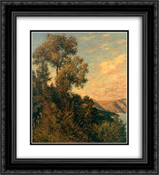 A Ligurian Gulf 20x22 Black or Gold Ornate Framed and Double Matted Art Print by Henry Herbert La Thangue
