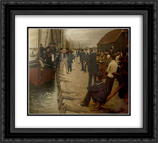 A Mission to Seamen 22x20 Black or Gold Ornate Framed and Double Matted Art Print by Henry Herbert La Thangue