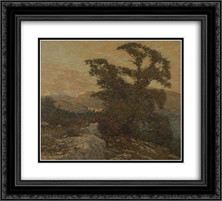 A Mountain Frontier 22x20 Black or Gold Ornate Framed and Double Matted Art Print by Henry Herbert La Thangue
