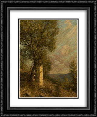 A Provencal Morning 20x24 Black or Gold Ornate Framed and Double Matted Art Print by Henry Herbert La Thangue