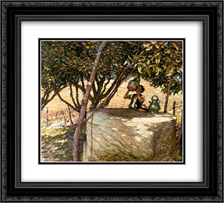 At the Well 22x20 Black or Gold Ornate Framed and Double Matted Art Print by Henry Herbert La Thangue
