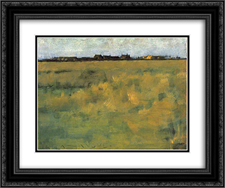 Farm Near Horsey, Norfolk 24x20 Black or Gold Ornate Framed and Double Matted Art Print by Henry Herbert La Thangue