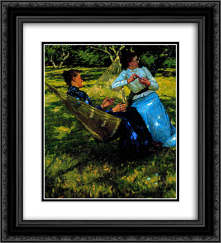 In the Orchard 20x22 Black or Gold Ornate Framed and Double Matted Art Print by Henry Herbert La Thangue