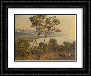 Ligurian Artrobus 24x20 Black or Gold Ornate Framed and Double Matted Art Print by Henry Herbert La Thangue