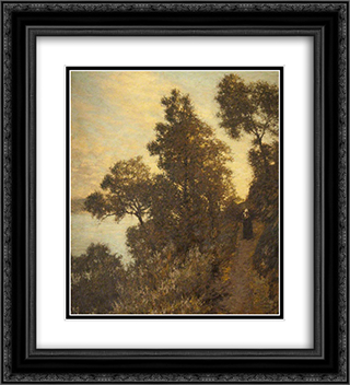 Ligurian Bridle Path 20x22 Black or Gold Ornate Framed and Double Matted Art Print by Henry Herbert La Thangue
