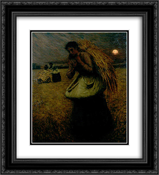 Nightfall (The Gleaners) 20x22 Black or Gold Ornate Framed and Double Matted Art Print by Henry Herbert La Thangue