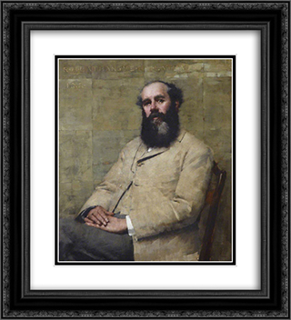 R. H. La Thangue (Portrait of the Artist's Father) 20x22 Black or Gold Ornate Framed and Double Matted Art Print by Henry Herbert La Thangue