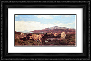 Ben Eay 24x16 Black or Gold Ornate Framed and Double Matted Art Print by Henry William Banks Davis