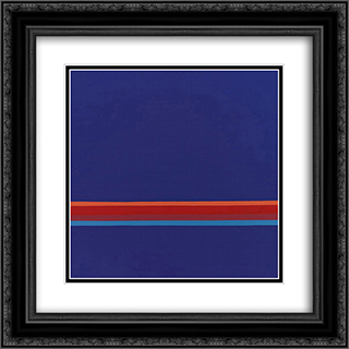 47 - 1972 20x20 Black or Gold Ornate Framed and Double Matted Art Print by Henryk Stazewski