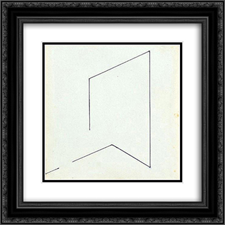58 - 1977 20x20 Black or Gold Ornate Framed and Double Matted Art Print by Henryk Stazewski