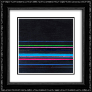 Composition no. 3 20x20 Black or Gold Ornate Framed and Double Matted Art Print by Henryk Stazewski