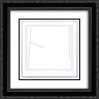 Kompozycja 20x20 Black or Gold Ornate Framed and Double Matted Art Print by Henryk Stazewski