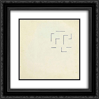 Labirynt nr. 47 20x20 Black or Gold Ornate Framed and Double Matted Art Print by Henryk Stazewski