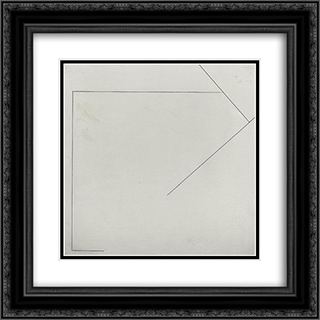 Nr. 123 20x20 Black or Gold Ornate Framed and Double Matted Art Print by Henryk Stazewski