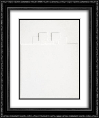 Relief 20x24 Black or Gold Ornate Framed and Double Matted Art Print by Henryk Stazewski