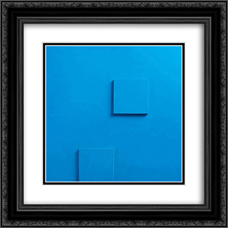 Relief nr. 12 20x20 Black or Gold Ornate Framed and Double Matted Art Print by Henryk Stazewski