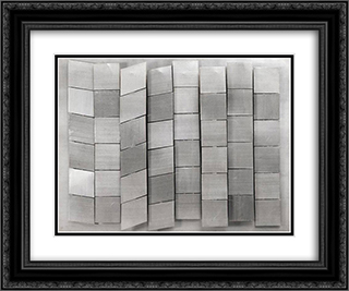 Untitled 24x20 Black or Gold Ornate Framed and Double Matted Art Print by Henryk Stazewski
