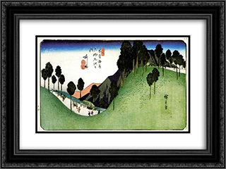 Ashida 24x18 Black or Gold Ornate Framed and Double Matted Art Print by Hiroshige
