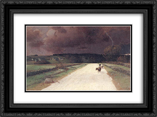 Before the Storm 24x18 Black or Gold Ornate Framed and Double Matted Art Print by Homer Watson