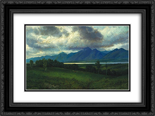 Down in the Laurentides 24x18 Black or Gold Ornate Framed and Double Matted Art Print by Homer Watson