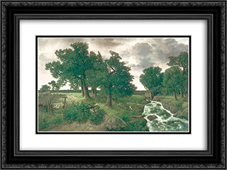 Evening after the Storm 24x18 Black or Gold Ornate Framed and Double Matted Art Print by Homer Watson