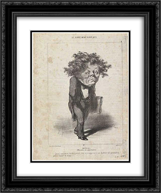 Adolphe Cremieux 20x24 Black or Gold Ornate Framed and Double Matted Art Print by Honore Daumier