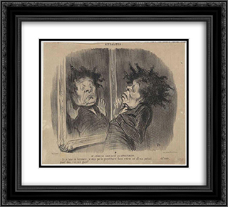Adolphe Cremieux (Mr Cremieux seeking an apartment) 22x20 Black or Gold Ornate Framed and Double Matted Art Print by Honore Daumier
