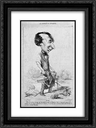 Alexandre Bixio 18x24 Black or Gold Ornate Framed and Double Matted Art Print by Honore Daumier