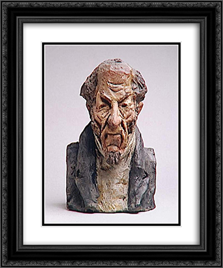 Alfred Pierre Comte de Falloux 20x24 Black or Gold Ornate Framed and Double Matted Art Print by Honore Daumier