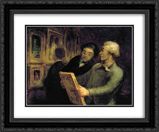 Amateurs in an Exposure 24x20 Black or Gold Ornate Framed and Double Matted Art Print by Honore Daumier