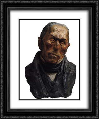 Bust of Francois-Pierre-Guillaume Guizot 20x24 Black or Gold Ornate Framed and Double Matted Art Print by Honore Daumier