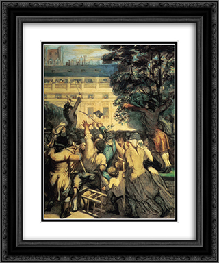 Camille Desmoulins in the Palais Royal 20x24 Black or Gold Ornate Framed and Double Matted Art Print by Honore Daumier