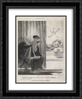 Clytemnestra pushed by Mimi Veron (Rachel) 20x24 Black or Gold Ornate Framed and Double Matted Art Print by Honore Daumier