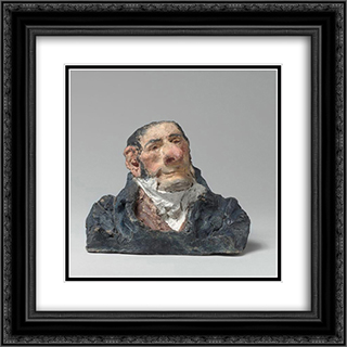 Count Antoine-Maurice-Apollinaire d'Argout (1782-1858), Minister and Peer of France 20x20 Black or Gold Ornate Framed and Double Matted Art Print by Honore Daumier