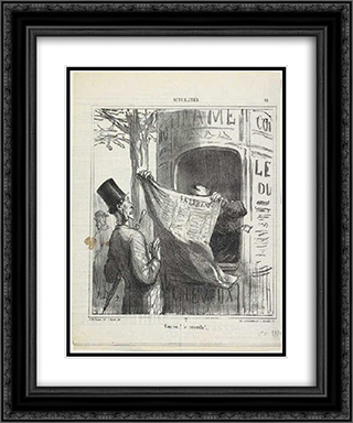 Cuckoo! He's back 20x24 Black or Gold Ornate Framed and Double Matted Art Print by Honore Daumier
