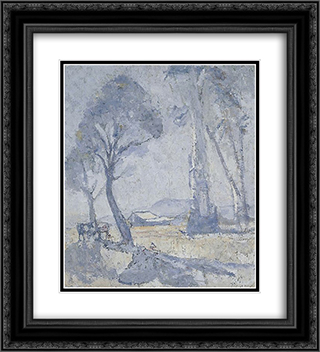 Morning mists 20x22 Black or Gold Ornate Framed and Double Matted Art Print by Horace Trenerry