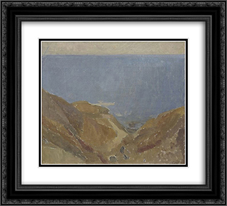 Seascape 22x20 Black or Gold Ornate Framed and Double Matted Art Print by Horace Trenerry